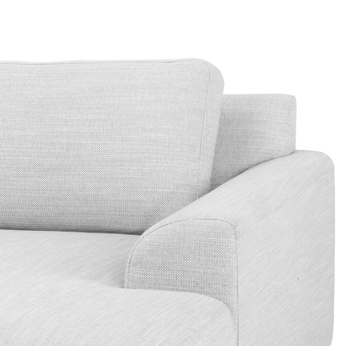 Sonia 3 Seater Right Sofa in Light Texture Grey Black legs