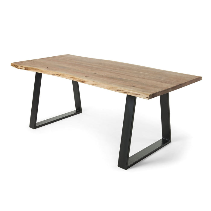 Sono Solid Wattle Timber Dining Table - Natural