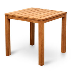 Sorrento 80cm Teak Square Outdoor Dining Table - Natural