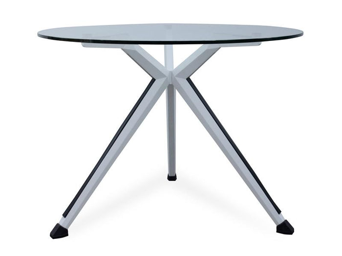 Spectrum Round Office Meeting Table - Tempered Glass Top