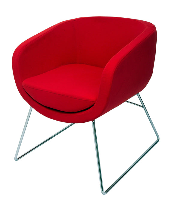 Splash Cube Fabric Office Chair - Red Armchair