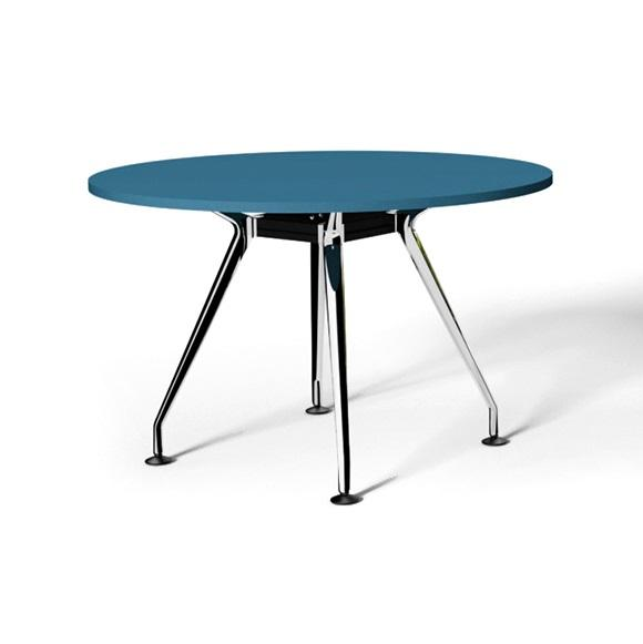 Swift Round Office Meeting Table 90cm - Olympia Blue