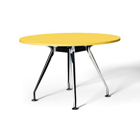 Swift Round Office Meeting Table 90cm - Yellow