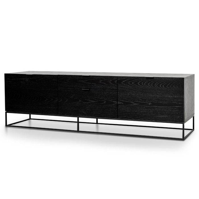 Talia 180cm Entertainment TV Unit - Black Veneer