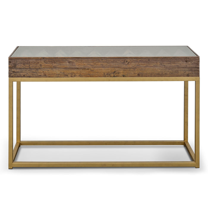 Ted 1.39m Reclaimed Narrow Wood Console Table