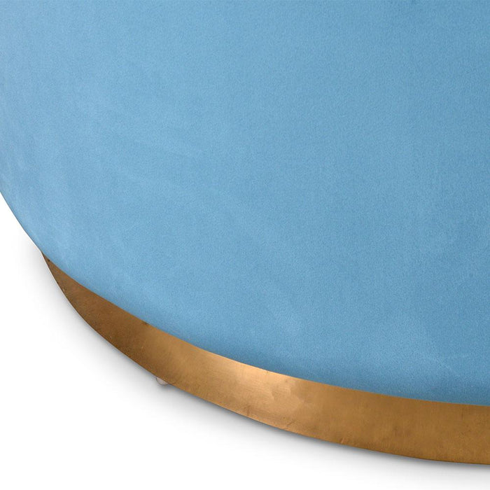 Thelma Ottoman - Light Blue Velvet