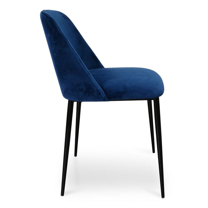 Tisha Dining Chair - Blue Velvet