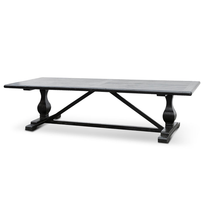 Titan Reclaimed Dining Table 3m - Black- 120cm (W) - Thick Top