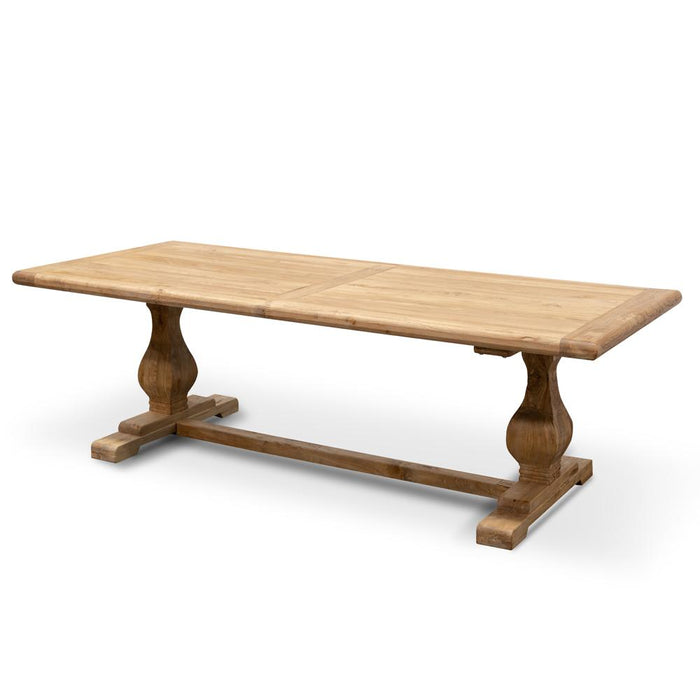 Titan Reclaimed Elm Wood 2.4m Dining Table - Rustic Natural