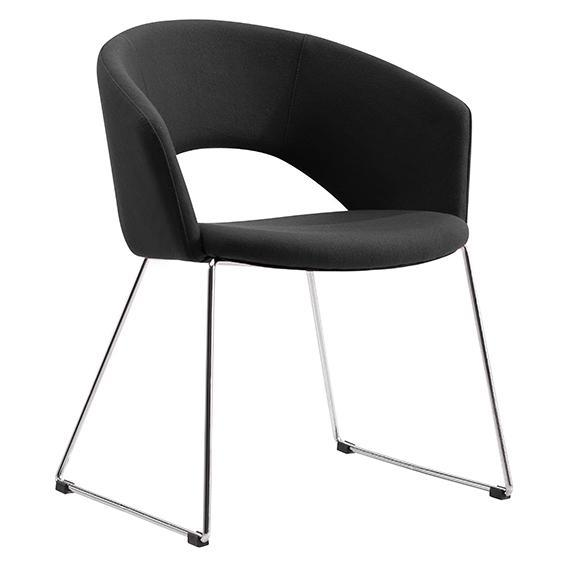 Torry Fabric Lounge Chair - Charcoal