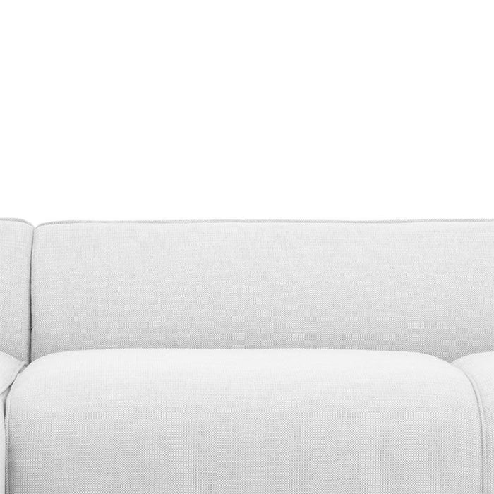 Troy 3 Seater Left Chaise Sofa in Light Texture Grey