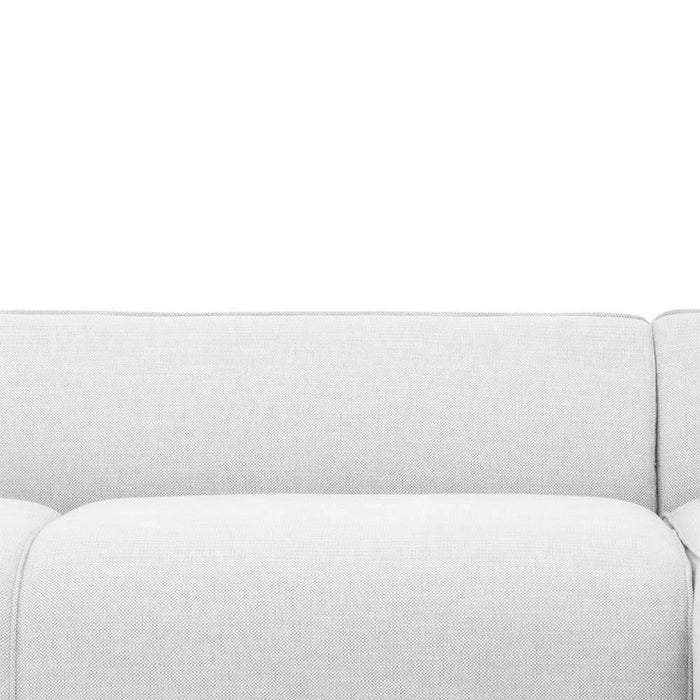 Troy 3 Seater Right Chaise Sofa - Light Texture Grey