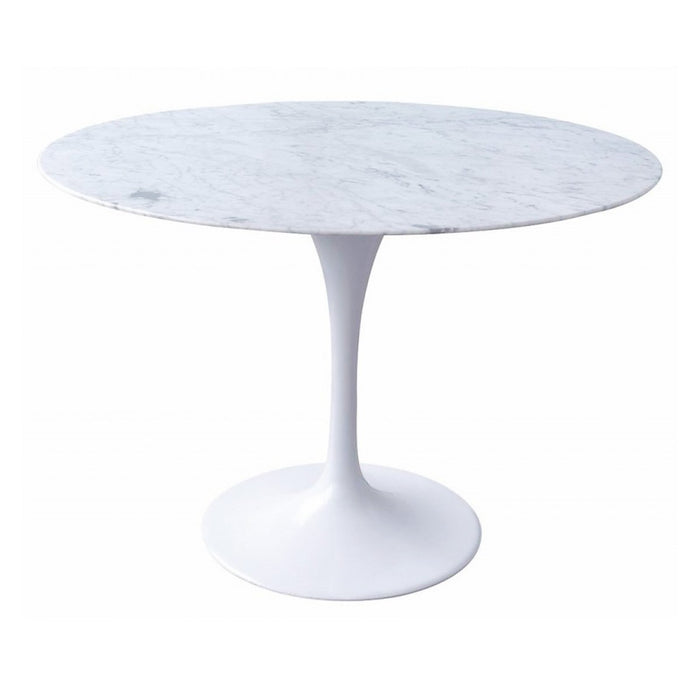 Tulip Marble Dining Table 100cm - Aluminium