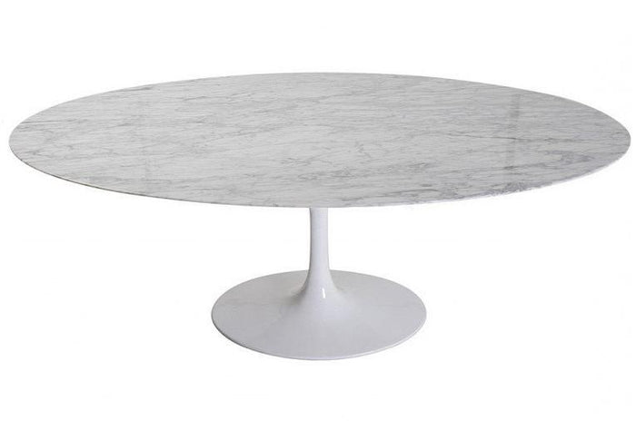 Tulip 2m Marble Oval Dining Table