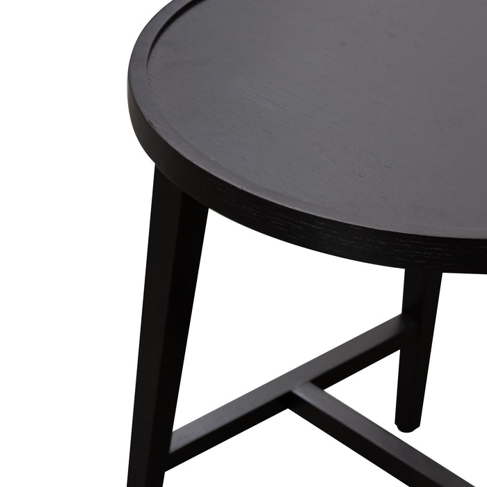 Tyrell Nested Wooden Side Table - Black