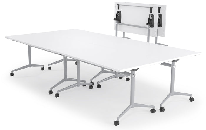 Uni 1.8m Silver Flip Table