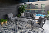 Venus 4 Piece Outdoor Lounge Setting - Grey