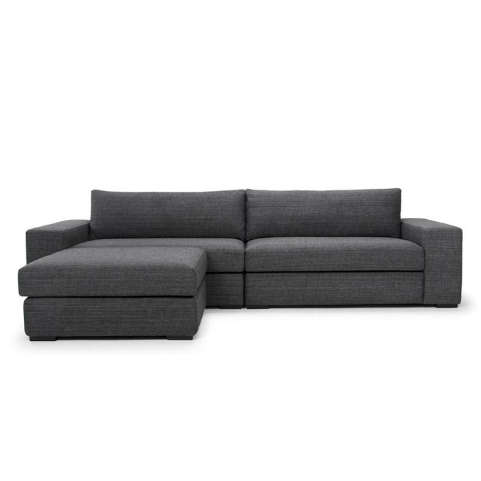 Vera 3 Seater Sofa With Movable Chaise - Metal Grey