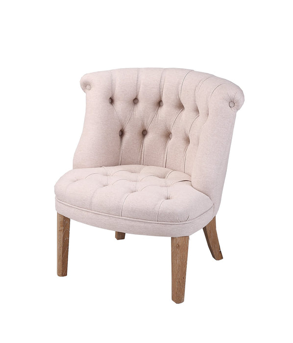 Verley French Provincial Linen Tub Lounge Chair