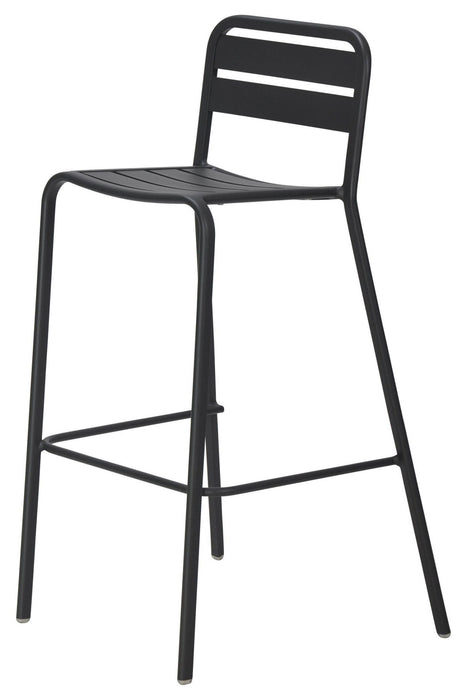 Vespa Outdoor Charcoal Metal Bar Stool(Discontinued)
