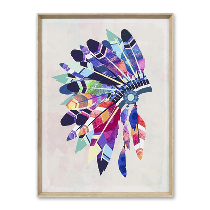 Vibrant Headdress Wall Art Print