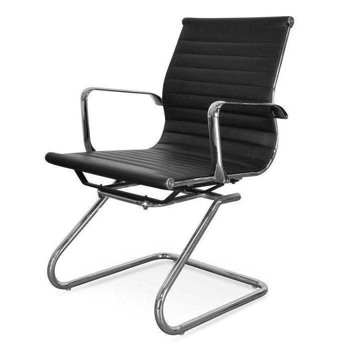 Charlie Visitor Office Chair - Black PU