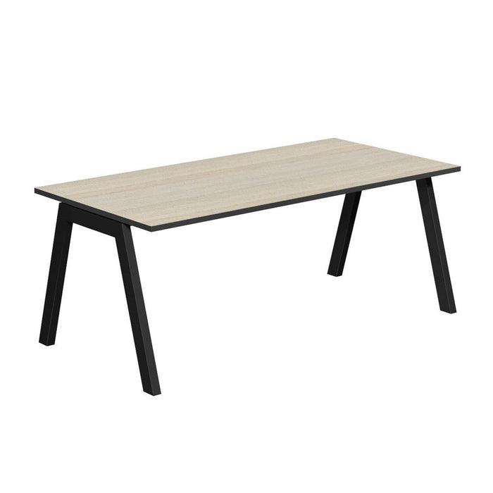 Vista 1.8 Natural Office Desk - Black Legs