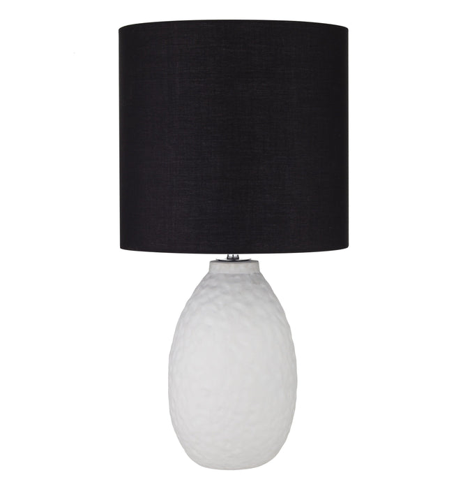 Riverdale Table Lamp - White / Black