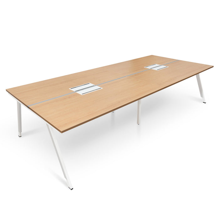 Vogue 4 Seater 3.2m Office Desk - Natural