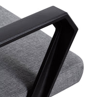 Velmer Fabric Office Chair - Charcoal Grey with Black Base