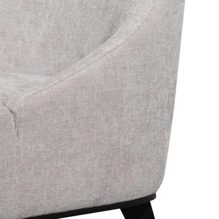 Wilbur Fabric Lounge Chair - Oyster Beige