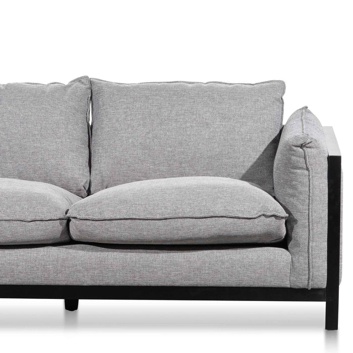Wilford 2 Seater Fabric Sofa - Graphite Grey
