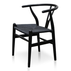 Wishbone Cord Dining Chair - Full Black