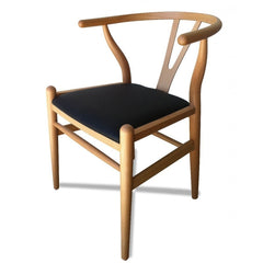Wishbone Soft Pad Dining Chair - Hans Wegner Replica - Natural Beech(Discontinued)