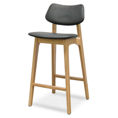 Yoki 65cm Bar Stool - Black - Natural