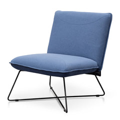 Yolanda Fabric Lounge Chair - Blue