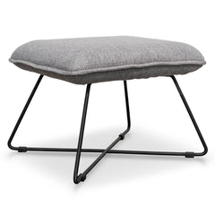 Yolanda Fabric Lounge Ottoman - Light Grey