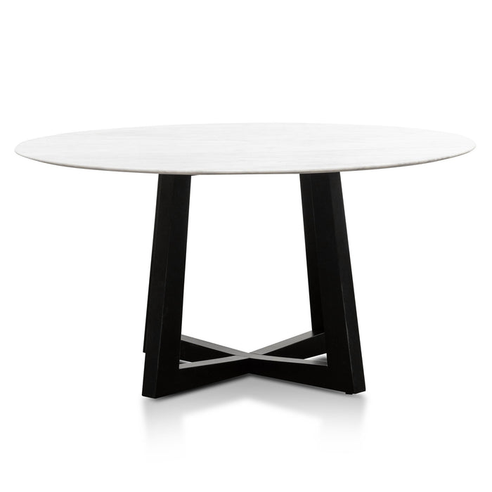 Zodiac 1.5m Round Marble Dining Table - Black