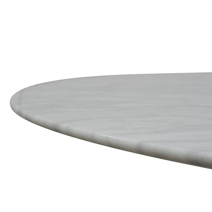 Zodiac 1.15m Marble Round Dining Table - Natural