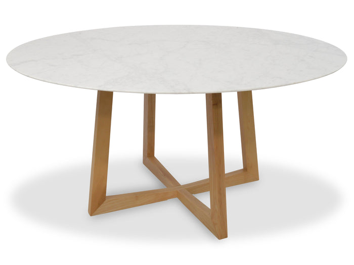 Zodiac 1.5m Round  Marble  Dining Table - Natural