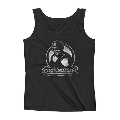 Cockswain Anvil Ladies' Tank with White Graphic