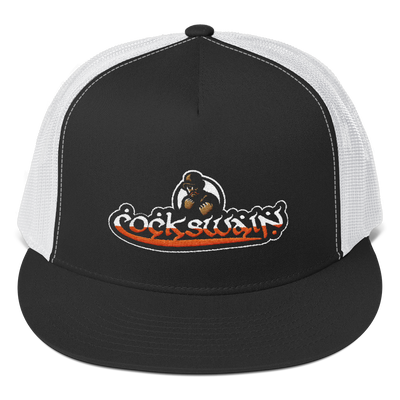 Cockswain Yupoong Flat Bill Trucker Cap with Color Logo