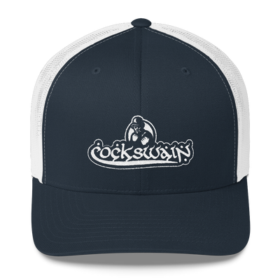 Cockswain Trucker Cap with White Logo