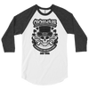 Cockswain 2019 St. Patrick's Day Weekend Tour 3/4 Sleeve Raglan Shirt in White with Grey/Black Logo