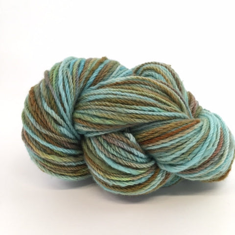 hand dyed rambouillet yarn