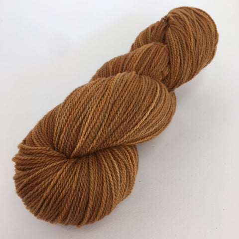 Rusty brown Rambouillet yarn