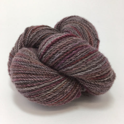 rose gray overdyed merino yarn