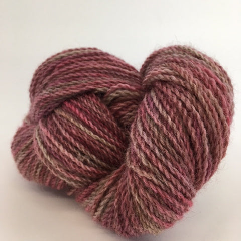 rose gray overdyed romney yarn
