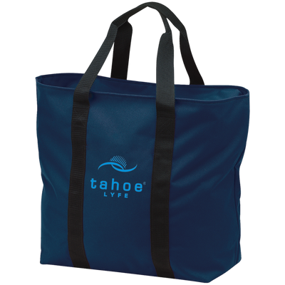 Tahoe Lyfe Modern Blue Logo Port & Co. All Purpose Tote Bag