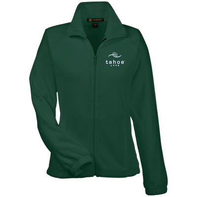 Tahoe Lyfe Modern White Logo Harriton Women's Fleece Jacket